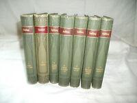 German classic books late 1800's  vol 1-7 Hebbel & Leffing