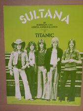 Assolo di pianoforte SULTANA Titanic 1971