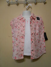 Sonoma Girls Lot Spring Summer Floral Blouses & Matching Camis 6 NWT