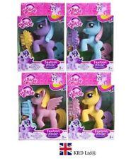 10cm FANTASY PONY WITH HAIR BRUSH SET Girls Birthday Box Party Bag Toy Gift UK
