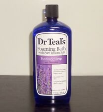 Dr Teal's Foaming Bath with Pure Epsom Salt, Soothe & Sleep with Lavender, 34 oz