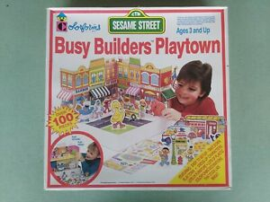 1991 Colorforms Complete Sesame Street Busy Builders Playtown Playset