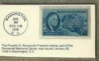 1946 5c Franklin D. Roosevelt Stamp GMA Gem MT 10