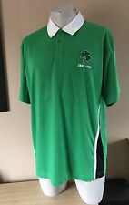 Unofficial Ireland Rugby Union Green Polo Shirt Jersey Size XXL (2XL)