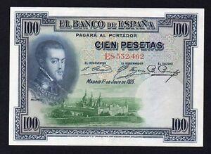 Spagna / Espana - 100 pesetas 1925 SPL+/XF+  A-06