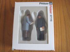 Preiser Figurines / 57115 Trucker Storeman / 2 Pc Set New In Box - G Scale