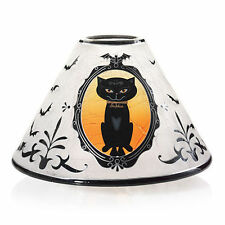 YANKEE CANDLE SOPHIA SPOOKTACULAR PORTRAIT CRACKLE SHADE HALLOWEEN  BLACK CAT