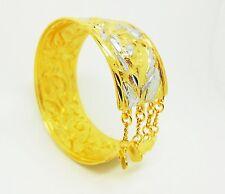 22K 23K 24K Thai Baht Yellow & White Gold Plated Jewelry  Bangle India Bracelet