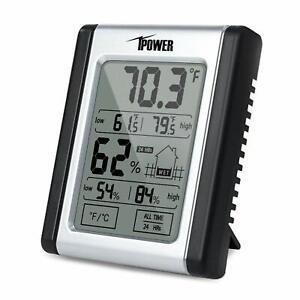iPower Indoor Digital Thermometer Hygrometer Temperature Humidity Monitor Meter