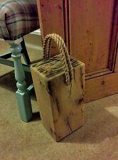 "RUSTIC Oak Door stop made from solid air dried oak beams 6"" x 5"""