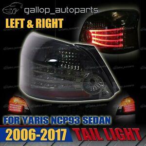 Left & Right Tail Light Rear Lamp For Toyota Yaris 4 Door Sedan NCP93 06~17