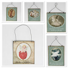 Sass & Belle Vintage Fairy Garden Saying Metal Hanging Sign/Plaque Decorations