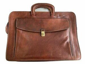 The Bridge Brown Leather Briefcase Document Laptop Bag