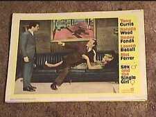 SEX AND THE SINGLE GIRL 1965 LOBBY CARD #2 TONY CURTIS