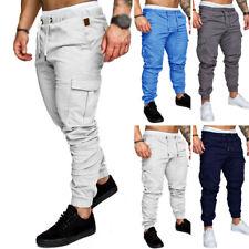 Hombre Casual Pantalones Atletismo Pantalón de Chándal Gimnasio Sports Ejercicio