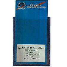 "Blue 2-Pocket FLAT AUTO CAR TRUCK INSURANCE REGISTRATION ID HOLDER 6""x4.6"" Vinyl"