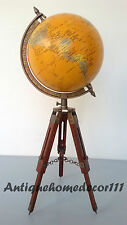 Nautical Contemporary World Table Decor Globe with Tripod Stand Authentic Globe