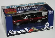ERTL 1/18 CANDY APPLE RED 1970 PLYMOUTH SUPERBIRD 1 OF 500 with MOPAR TOOL BOX