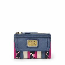 Fossil Emory Multifunction Leather Wallet Clutch Carryall (Bright Patchwork)