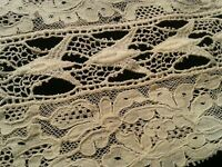 Antique Lace Scrap Fragment Salvage Cutter Sewing Doll Collage