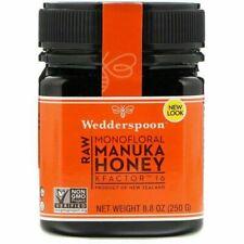 Wedderspoon 100% Raw Monofloral Manuka Honey KFactor 16 250g 8.8 oz New Zealand