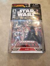 Star Wars Comic Pack #9 - Princess Leia & Darth Vader Action Figures Hasbro MOC