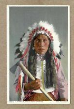 Jicarilla Apache Indian Chief, Fred Harvey, Detroit Pub. Co. 1910 era Postcard