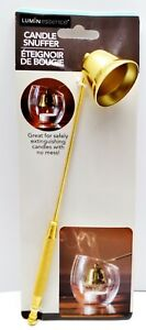 LuminEssence GOLD FINISH Candle Snuffer Accessory With Long Handle