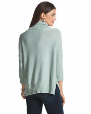 SALE ORG $99- WOMEN'S CLOTHING SWEATER NEW LAST1 BNWT COWL NECK 3/4 SLEEVE MAUVE