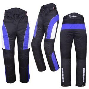 Motorbike Motorcycle Waterproof Cordura Textile Trousers Pants Armours 7 Colours