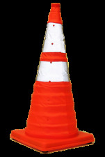 Eurow Safety Lighted Collapsible Traffic Safety Cone 28 Inch