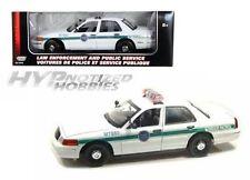 MOTORMAX 1:18 2001 FORD CROWN VICTORIA BORDER PATROL DIE-CAST WHITE 73513