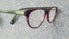 Warby Parker Ainsworth Purple Green Designer Glasses Frames Case