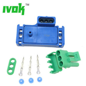 3 BAR MAP Sensor With Connector Plug For Turbo Manifold Absolute Air Pressure