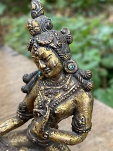 TIBETAN GILT BRONZE TARA PALA STYLE 18TH CENTURY OR EARLIER BUDDHA