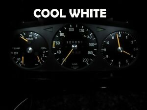 Gauge Cluster LED Dashboard Bulbs Cool White For Mercedes Benz 77 85 W123
