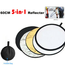 60cm 5 in 1 Studio Photo Photography Multi Collapsible round Light Reflector AU
