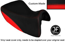 RED & BLACK VINYL CUSTOM FOR TRIUMPH TROPHY SE 1215 12-14 FRONT RIDER SEAT COVER