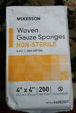 "McKesson Woven Gauze Sponges, Non-Sterile, 4"" x 4"" ,12 ply - pack of 200"