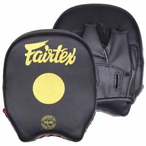 Fairtex Short Focus Mitts - Black/Gold FMV14