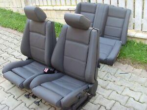 BMW e30 Cabrio Sitzbezüge vorne und hinten (BMW Bison Schwarz)