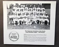 1978 VANCOUVER CANADIANS PCL team photo ORIGINAL issue 9.5 x 8