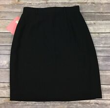 Nordstrom Preview Collection NWT Womens Short Pencil Skirt 6 Black Career E61