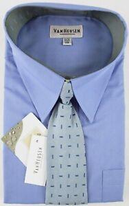 NWT Van Heusen Boy's LS Blue Dress Shirt + Coordinating Tie, Size 20