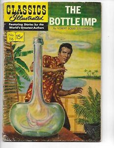 Classics Illustrated  #116  hrn 117  The Bottle Imp   1st print