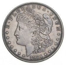 Choice AU/UNC 1921 Morgan Silver Dollar - Last Year of Issue - Great Luster *695