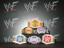6 x Custom WWF WWE NXT Womens Title Belts For Hasbro Mattel Wrestling Figures