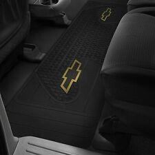 CHEVY TRUCK Floor Mat Rear Runner OEM LOGO Factory Emblem Rubber Liners Black