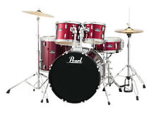 Pearl Roadshow 5 Piece Drum Set With Hardware & Cymbals - Wine Red - RS525SC/C91