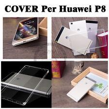 CUSTODIA COVER PER Huawei ascend P8 SLIM TRASPARENTE morbido TPU